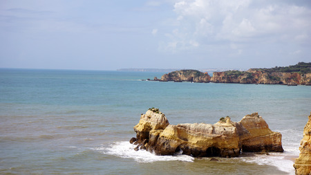 beach of praia de rocha in portugal Stock Photo