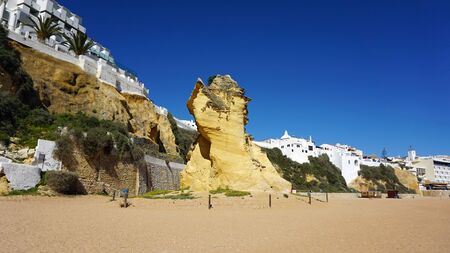 praia do peneco on the algarve coast of portugal Stock Photo