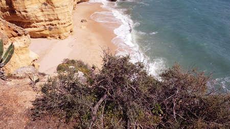 beach of playa de marinha in portugal