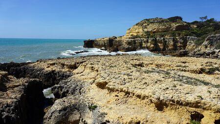 praia do evaristo an the algarve coast Stock Photo
