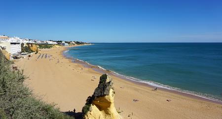 praia do peneco on the algarve coast of portugal Stock Photo