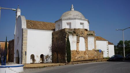 traditional architecture from small town loule in portugal