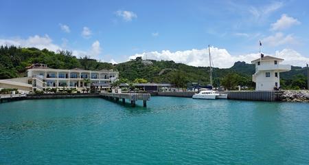 dominican: tropical bay of sosua in the dominican republic