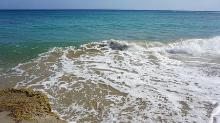 untouched caribbean beach in the domincan republic