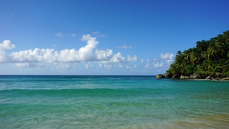 playa: caribbean playa grande beach ion the dominican republic Stock Photo