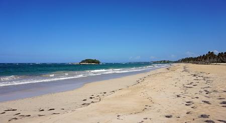 wild caribbean beach on the north coast of the dominican republic