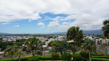 caribbean town santiago de los caballeros in the dominican republic 版權商用圖片