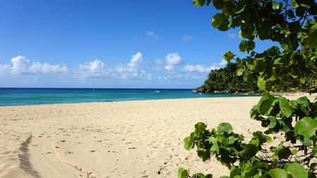 caribbean playa grande beach ion the dominican republic Stock Photo