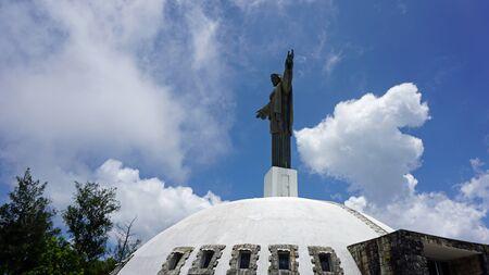 isabel: statue of jesus christus in the domincan republic Stock Photo