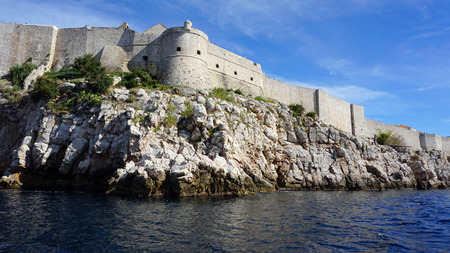unesco world heritage site castle of dubrovnik Editorial