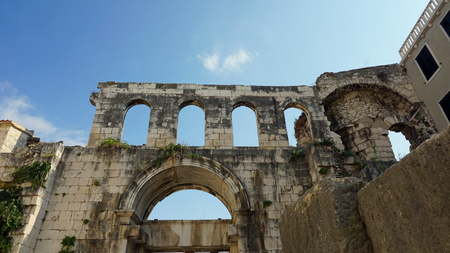 world heritage site diocletians palace in split