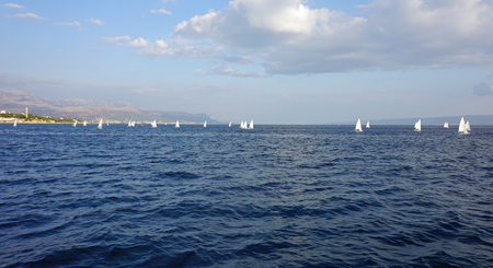 sailing sport in the sea near spilt in croatia