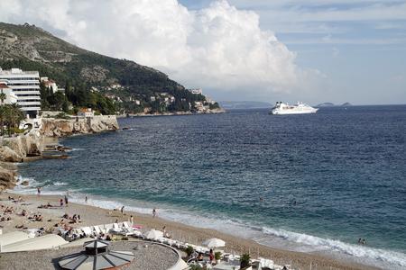colorful and natual beach of dubrovnik in croatia