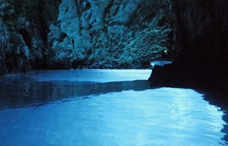 amazing natural blue cave in bisevo croatia