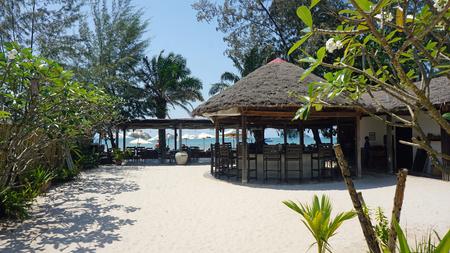 tropical beach of otres near sihanokville in cambodia Stock Photo
