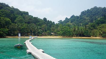 green tropical coastline of koh chang island