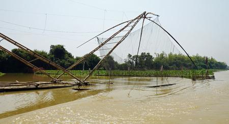shrimp farms on tonle sap river in cambodia