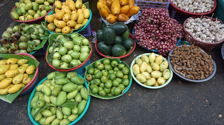 Fresh food from a local market in phnom penh