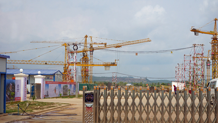 Otres, Sihanoukville district, Cambodia - March 2018:Construction sides