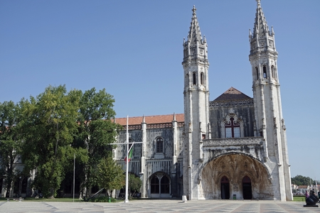 magnificent Jerónimos Monastery of belem near lisbon