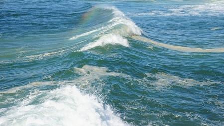 heavy waves in fouradouro beach during autumn Standard-Bild - 114258439