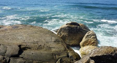 sao felix de marinha beach in autumn Standard-Bild - 114258382
