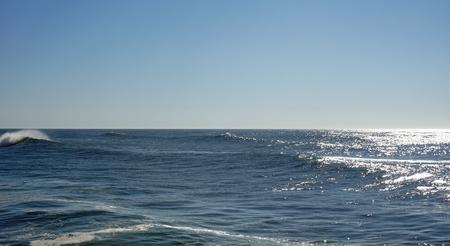 heavy waves in fouradouro beach during autumn Standard-Bild - 114258389