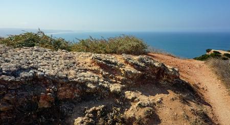 shore line of small tourist village nazare in portugal Standard-Bild - 114258328