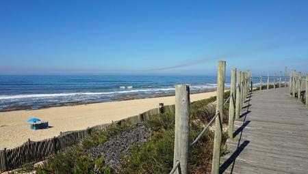 sao felix de marinha beach in autumn Standard-Bild - 114258338