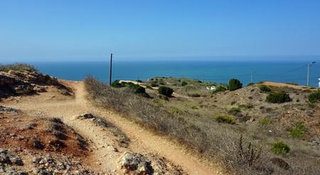shore line of small tourist village nazare in portugal Standard-Bild - 114258321
