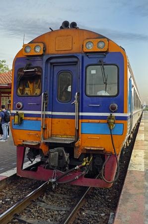 train crossing royal train station of hua hin