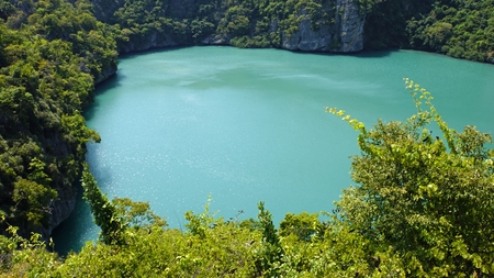 saltwater lagoon ko mae ko in thailand