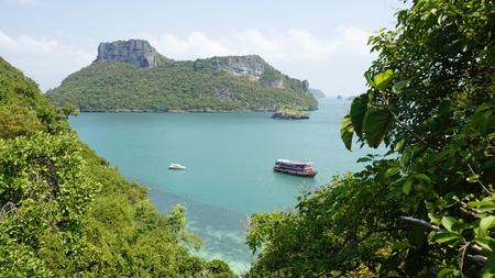 tropical beach on kok mae koh island in thailand