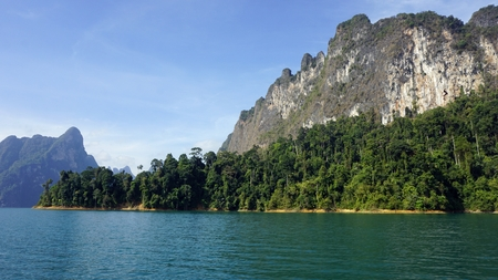 amazing tropical landscape in khao sok thailand