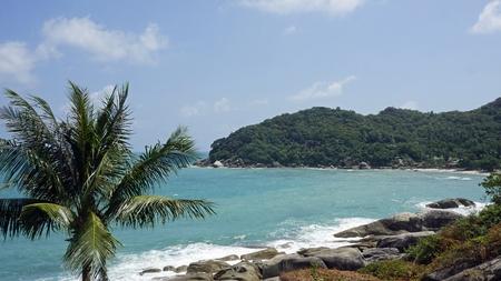 tropical silver beach oh koh samui in thailand Standard-Bild - 120714370