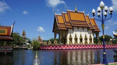 chinese plai laem temple on koh samui in thailand Standard-Bild - 120714374