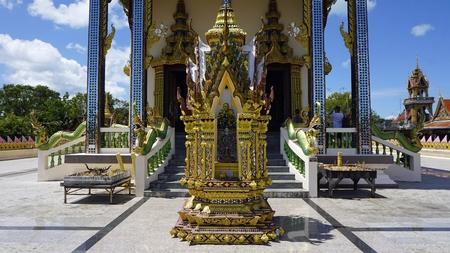 chinese plai laem temple on koh samui in thailand Standard-Bild - 120714379
