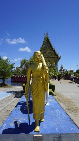 chinese plai laem temple on koh samui in thailand Standard-Bild - 120714390