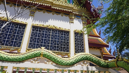 chinese plai laem temple on koh samui in thailand Standard-Bild - 120714472