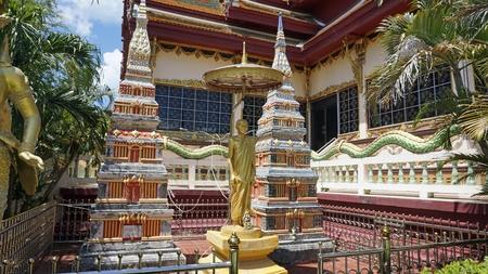 chinese plai laem temple on koh samui in thailand Standard-Bild - 120714475