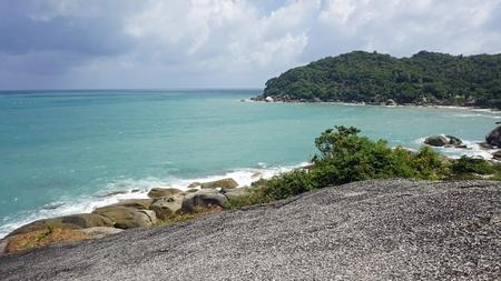 tropical silver beach oh koh samui in thailand Standard-Bild - 120714478
