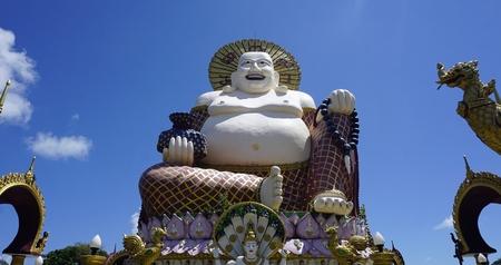 chinese plai laem temple on koh samui in thailand Standard-Bild - 120714529