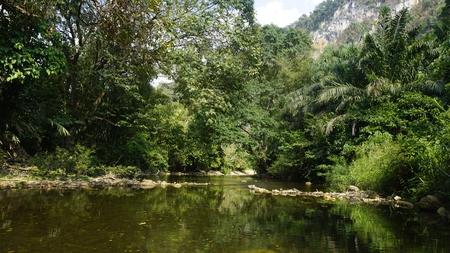 rafting in khao sok in thailand Standard-Bild - 120714541