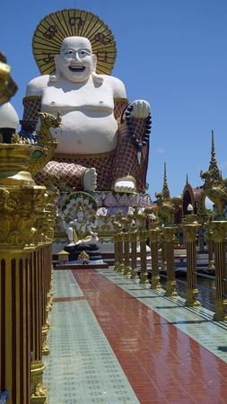 chinese plai laem temple on koh samui in thailand Standard-Bild - 120714543