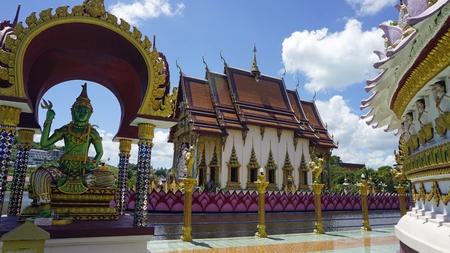chinese plai laem temple on koh samui in thailand Standard-Bild - 120714555