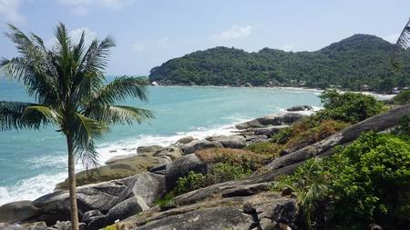 tropical silver beach oh koh samui in thailand Standard-Bild - 120714581