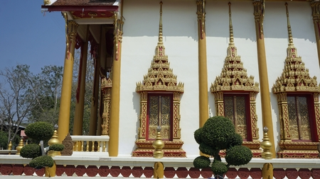 small buddhistic temple complex of wat tongchai