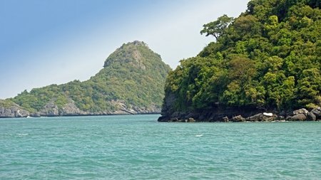 amazing landscape in mu ang thong thailand Standard-Bild - 120714594