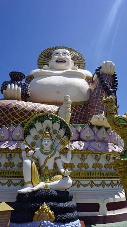 chinese plai laem temple on koh samui in thailand Standard-Bild - 120714621