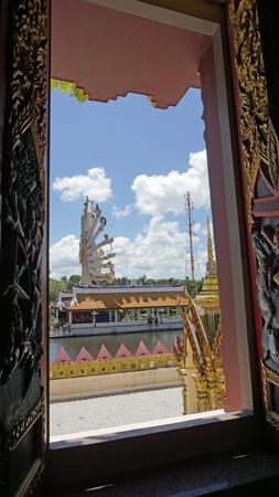 chinese plai laem temple on koh samui in thailand Standard-Bild - 120714645